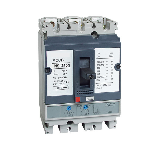 NS-250N silver ornamental NS electrical Molded case circuit breaker