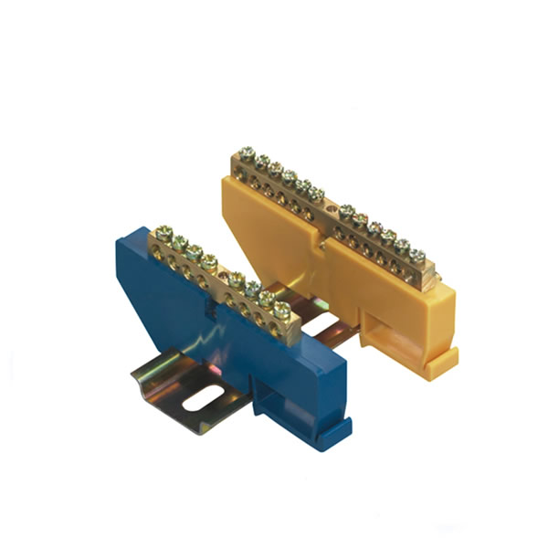din rail type terminal block 8ways Natural bar