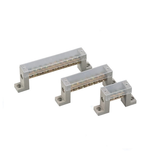 Neutral terminal block brass bar 3ways zero line row